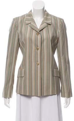 Luciano Barbera Wool Striped Blazer
