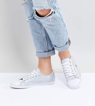 Lacoste Ziane 118 Sneakers In Silver