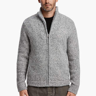 James Perse MELANGE ZIP-UP SWEATER