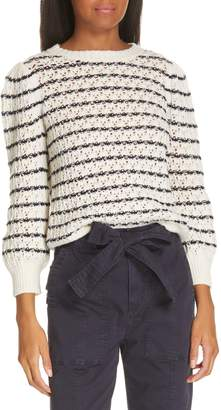 Rebecca Taylor Stripe Pointelle Sweater