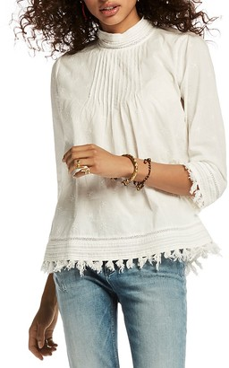 Scotch & Soda Star Embroidered Tassel Top $158 thestylecure.com
