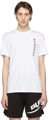 Givenchy White Vertical Logo Slim-Fit T-Shirt
