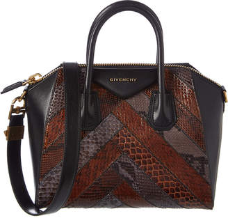 Givenchy Antigona Small Leather & Python Satchel