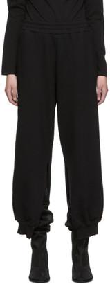 MM6 MAISON MARGIELA SSENSE Exclusive Black Split Lounge Pants