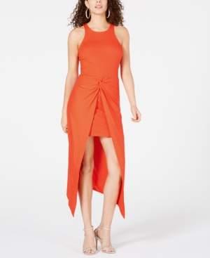 Material Girl Juniors' Rib-Knit Open-Front Overskirt Dress, Created for Macy's