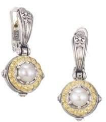 Konstantino 18k Yellow Gold & Pearl Earrings