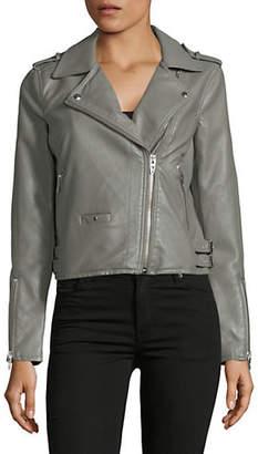 Blank NYC Olive Classic Moto Jacket