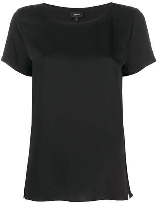 Theory short-sleeve shift blouse