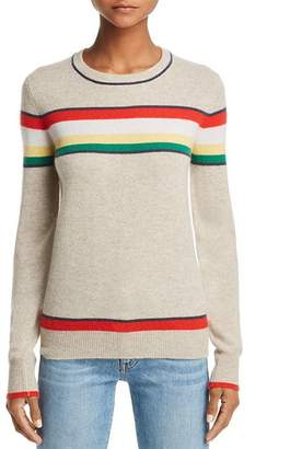 Aqua Striped Cashmere Sweater - 100% Exclusive