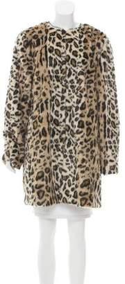 T Tahari Leopard Faux Fur Coat
