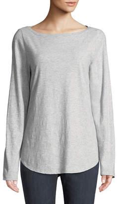 Eileen Fisher Organic Cotton Melange Slub Tee, Plus Size