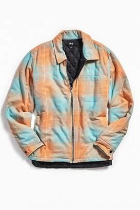Stussy Long Sleeve Zip-Up Plaid Shirt