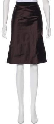 Miu Miu Silk Knee-Length Skirt