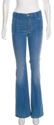 Mother The Drama Mid-Rise Wide-Leg Jeans