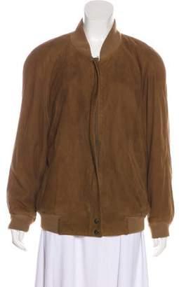 Burberry Suede Zip-Up Jacket