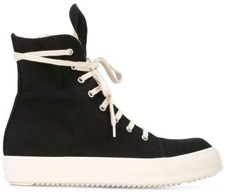 Rick Owens wraparound lace hi-top sneakers