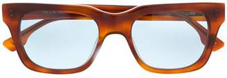 Le Specs Fellini rectangular frame sunglasses