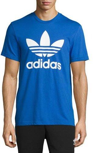 Adidas Original Trefoil T-Shirt, Cobalt Blue