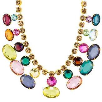 "Aqua Multicolored Crystal Statement Necklace, 14"" - 100% Exclusive"