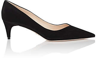 Prada Women's V'd-Throat Suede Pumps - Nero