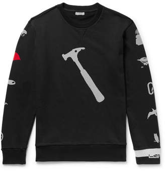 Lanvin Printed Loopback Cotton-Jersey Sweatshirt - Black