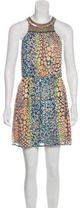 Neiman Marcus Cusp by Silk Mini Dress