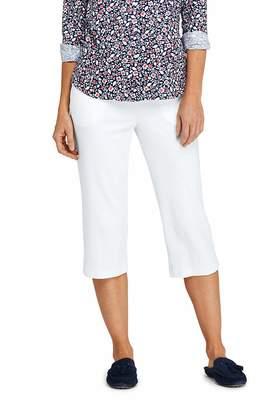 Lands' End Women's Tall Sport Knit Capri Pants, M