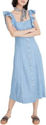 Madewell Princess Seamed Denim Midi Dress