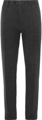 Brioni Dark-Grey Mélange Stretch-Virgin Wool Suit Trousers