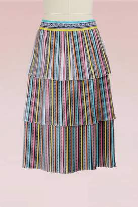 Mary Katrantzou Baccararat Crepe Pleated Midi Skirt