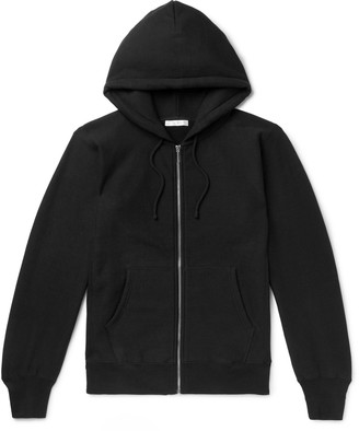The Row Loopback Cotton-Jersey Zip-Up Hoodie - Men - Black