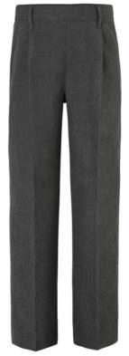 CAT George Boys Grey Longer Leg Half Elasticated Waist School Trousers