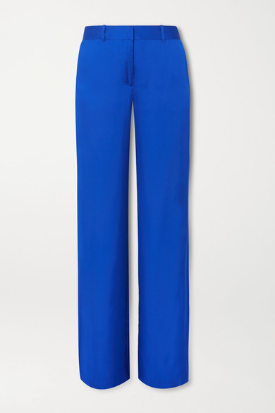 Arwen Satin Wide-leg Pants - Blue