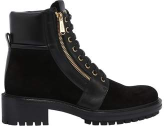 Balmain 40mm Army Suede & Leather Ankle Boots