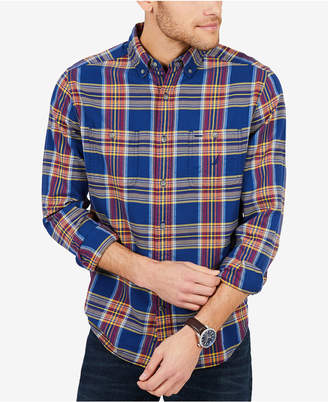 Nautica Men Classic-Fit Plaid Flannel Shirt
