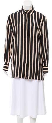 Ungaro Silk Striped Blouse w/ Tags
