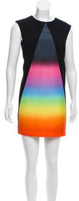 Christopher Kane Ombré-Accented Wool Dress