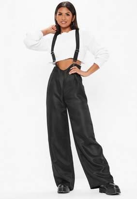 Missguided Black Dungaree Pants
