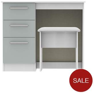 SWIFT Montreal Ready Assembled Gloss Vanity Desk And Stool Set