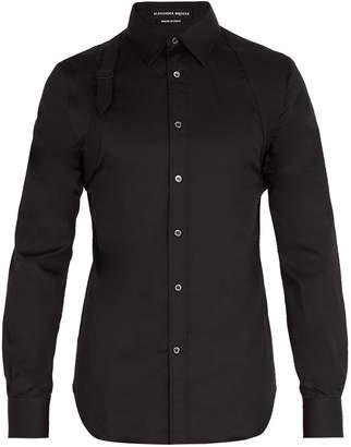 Alexander McQueen Harness cotton-blend shirt