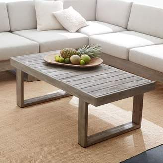 west elm Portside Outdoor Coffee Table - Weathered Gray