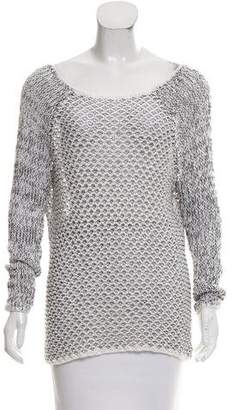 Joseph Open Knit Scoop Neck Sweater