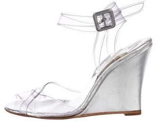 Christian Louboutin PVC Wedge Sandals