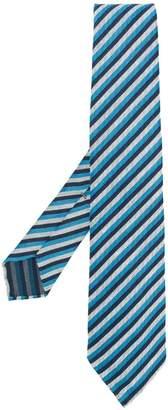 Kiton stripe embroidered tie