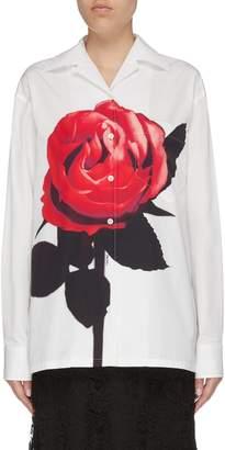 Prada Rose photographic print shirt