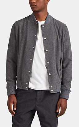 Eleventy Men's Wool-Cashmere Fleece Bomber Jacket - Charcoal
