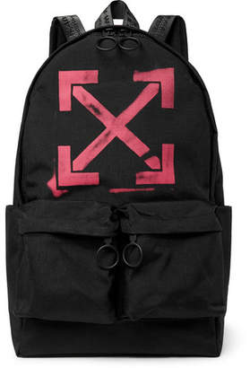 Off-White Off White Logo-Print Canvas Backpack - Men - Black
