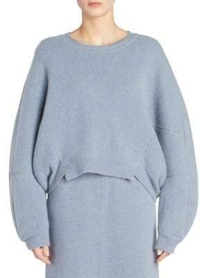 Stella McCartney Long Sleeve Felted Knit Sweater