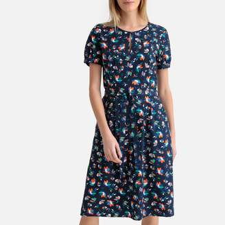 Esprit Floral Print Short-Sleeved Dress