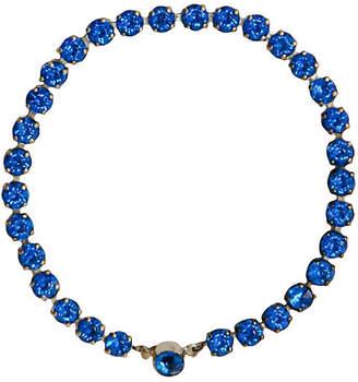 One Kings Lane Vintage Blue Rhinestone Sterling Tennis Bracelet